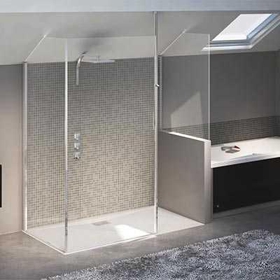 paroi de douche allibert walk in lago 120 allmat. Black Bedroom Furniture Sets. Home Design Ideas