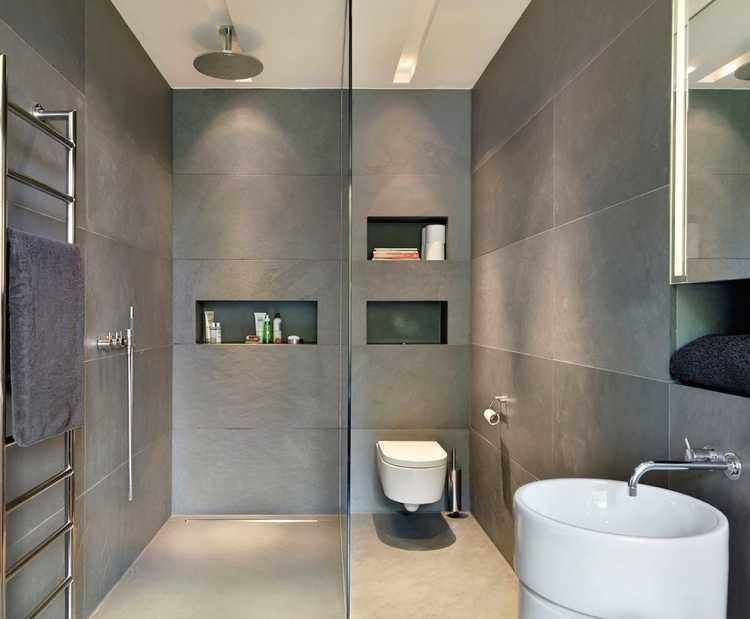 Plan d'intérieur avec Petite Salle De Bain Douche Italienne