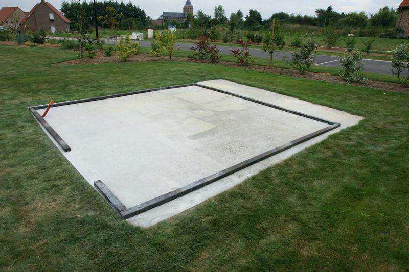 Je veux faire une dalle pour l 39 abri de jardin allmat - Je veux faire une fausse couche ...